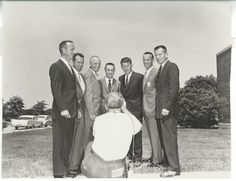 Mercury Seven Astronauts.Photo from collection of Claude Patterson