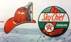 Fire Chief and Sky Chief Gasoline by Texaco by VintageManhattan, $2.99
