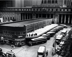 kafkasapartment:  Greyhound Bus Terminal, 1936. Berenice Abbott. Silver print