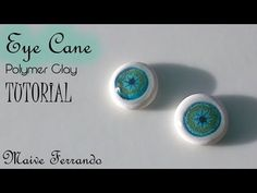 Easy Polymer Clay Eyeball Cane For Figurines and Dolls Tutorial - YouTube