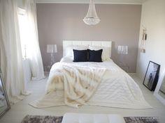 Coconut White: Ripaus mustaa makuuhuoneeseen