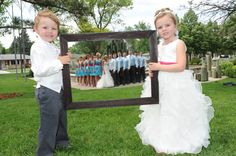 Another Great Photography Idea - Ring Bearer and Flower Girl Holding a Frame