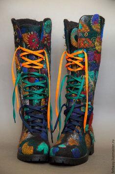 """Купить Сапоги-ботинки"""" Личность"""" повтор - комбинированный, ботинки женские…"""
