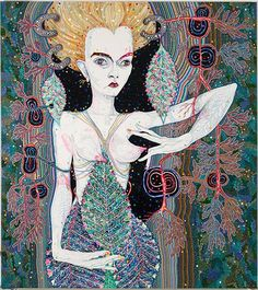 Del Kathryn Barton, pressure to the need, synthetic polymer paint and gouache on polyester canvas, 204 × 183 cm. Courtesy of the artist and Roslyn Gallery, Sydney. Australian Painting, Australian Artists, Del Kathryn Barton, Artist Project, Arts Award, Visionary Art, Henri Matisse, Pattern Art, All Art