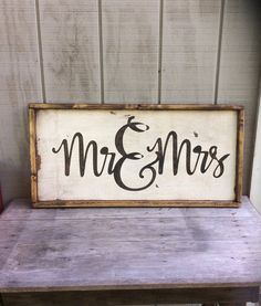 Wood Signs Mr and Mrs Wood Sign Wedding Sign His and Hers Sign Wood Wedding Signs, Diy Wood Signs, Pallet Signs, Rustic Signs, Wood Crafts, Diy Crafts, Pallet Art, Diy Pallet, Pallet Ideas