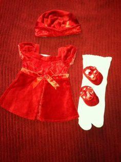 American Girl Doll Bitty Baby Redvelveteen Winter Party Dress Hat Shoes | eBay Bitty Baby, Dress Hats, Girl Dolls, American Girl, Doll Clothes, Party Dress, Summer Dresses, Winter, Ebay