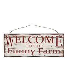 Look at this #zulilyfind! 'Funny Farm' Wall Sign by Designs Combined Inc. #zulilyfinds
