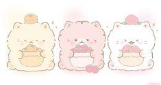 Twitter Cute Kawaii Animals, Cute Animal Drawings Kawaii, Kawaii Cat, Cute Drawings, Kawaii Doodles, Cute Doodles, Pretty Art, Cute Art, Cute Paintings