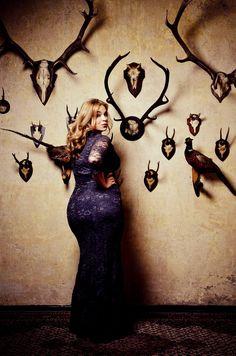 Plus Size Model Caterina pogorzelski www.megabambi.de Plus size Lace dress