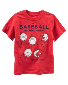 Toddler Boy Baseball Graphic Tee from Carters.com. Shop clothing & accessories from a trusted name in kids, toddlers, and baby clothes.