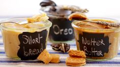 Learn how to make 3 Homemade Cookie Butters (Nutter Butter, Oreo Shortbread) then use them to create Peanut Butter Cups, Truffles even a Mug Cake! Mug Recipes, Easy Cookie Recipes, Sweet Recipes, Baking Recipes, Dessert Recipes, Baking Desserts, Cookie Flavors, Dessert Sauces, Dessert Ideas