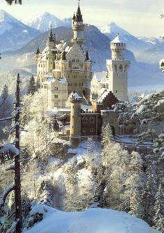 It's as beautiful in person as it is in print.  I love this castle!  Winter at Neuschwanstein Castle ~ Allgau, Bavaria, Germany