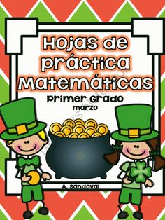 March Math Practice in Spanish  FIRST GRADE from Angelica Sandoval on TeachersNotebook.com -  (55 pages)  - These sheets can be used a spiral review for the month of March. It includes: Adding and subtraction sheets Missing addend Writing numbers up to 120 Counting by 10's and 5's Adding three digits Dice game Tens/Ones Word problems Clock Adding by 1