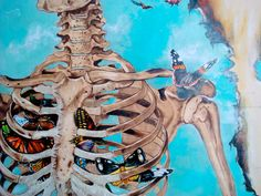 The Weight of the World-Troels Carlsen Human Bone Structure, Skeleton Drawings, Medical Art, Anatomy Art, Arts Ed, Skull And Bones, Art Portfolio, Dark Art, Art Lessons
