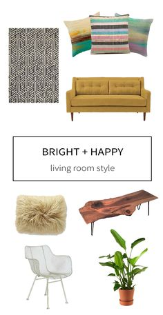 Living Room Style: Mid-Century Bright and Happy