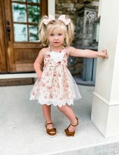 Jaclyn Cafe Vintage Floral and Lace Dress – Ruffles Vintage Cafe, Vintage Floral, Dance All Day, Business Baby, Date Dresses, Little Girl Outfits, Country Weddings, Sweet Dress, Little Princess