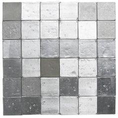 recycled aluminum backsplash tile