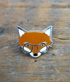 Mr. Fox Lapel Pin by crywolf on Etsy