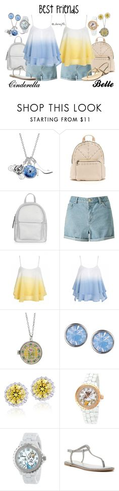 """""""Best Friends: Cinderella and Belle"""" by disney49 ❤ liked on Polyvore featuring Disney, New Look, Miss Selfridge, Lonna & Lilly, Icz Stonez, eWatchFactory, Athena Alexander and Dolce Vita"""