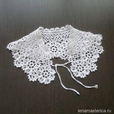 Openwork collar with floral motifs. Scheme