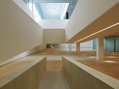 Image 5 of 41 from gallery of Silesian Museum Katowice / Riegler Riewe Architekten. Photograph by Paolo Rosselli Cultural Architecture, Contemporary Architecture, Interior Architecture, Lobby Reception, Industrial, Museum Exhibition, Stairs, Gallery, Home