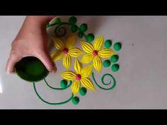 Innovative and Beautiful Easy Rangoli Design for everyday Easy Rangoli Designs Diwali, Rangoli Designs Latest, Rangoli Designs Flower, Small Rangoli Design, Rangoli Patterns, Colorful Rangoli Designs, Rangoli Ideas, Diwali Rangoli, Flower Rangoli
