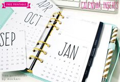 Free 2015 Calendar Inserts for Your Planner
