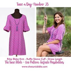 The Tunic Bible - Swing into Sunday in our easy to wear knit tunic dress with ruffle cuff sleeves!