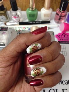 Milani Bet On Red, White, Showy Sea-Green & Pueen Nature Love 02, MDU Gold