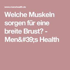 Welche Muskeln sorgen für eine breite Brust? - Men's Health