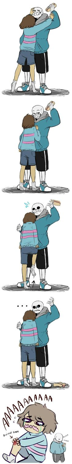 Frisk and Sans | nut kick