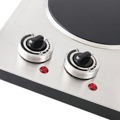 Cusimax 1800w Infrared Cooktop Ceramic Double Countertop Burner With Dual Temperature Control Cmipc180 Stainless Steel