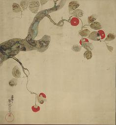 Nakamura Hochu, Persimmon Tree, Edo period