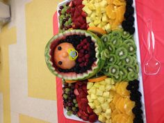The best baby shower fruit tray ever!!
