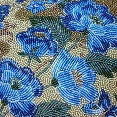 Beautiful Blue Flower Beading.