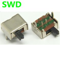 0.93$  Watch now - 20PCSLot Toggle switch SK22D07 2P2T slide switch handle 2 rows of 2 to 6 foot 4MM  #DSC0039   #shopstyle