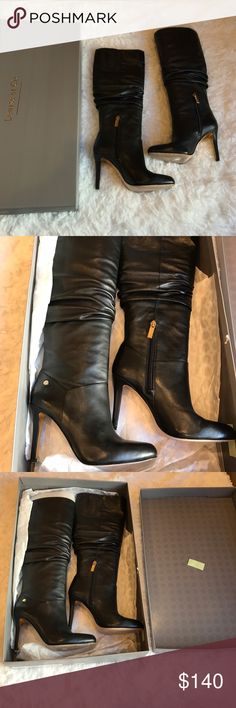 Black Boots Wore once for a few hours. Perfect condition Nordstrom Shoes Heeled Boots