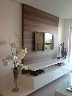 Amazing Living Room TV Wall Decor Ideas And Remodel « Home Design Elegant Living Room, New Living Room, Living Room Decor, Modern Living, Cozy Living, Small Living, Modern Tv Wall Units, Living Room Tv Unit Designs, Tv Stand Designs