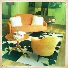 Custom & Vintage Furniture from Bjork Studio - Rug design by Katherine Cohen at FLOR Atl, GA