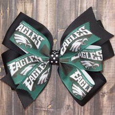 Philadelphia Eagles Hair Bow / Philadelphia Bow by JessicaAndKate