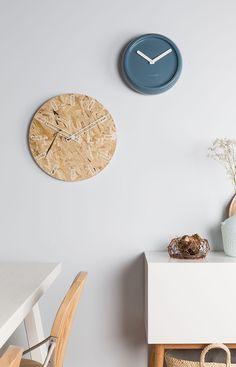 OSB, un matériau tendance / Horloge OSB Time de Zuiver