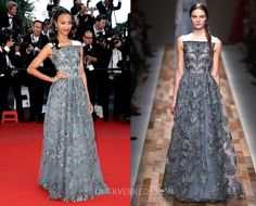 Zoe Saldana in Valentino RTW Fall 2013