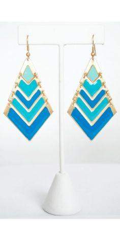 Blue Crush Earrings #vestique