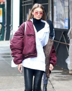 Gigi Hadid Photos Photos - Models Gigi Hadid and Anwar Hadid was seen out and about in New York City, New York on February 11, 2017. The two appeared to be enjoying their time out together. - Gigi Hadid & Anwar Hadid Step Out In NYC