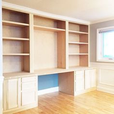 Built In Desk Reveal, Home Decor, Home Improvement, Home Office, Painted  Furniture