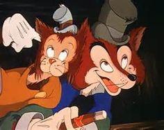*GIDEON & HONEST JOHN LOUNSBERY ~ Pinocchio, 1940