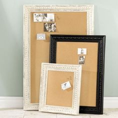 Cork Board idea I love , you can find old frames @ goodwill for a few bucks !