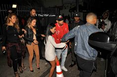 ON THE SCENE: Karrueche Tran & Chris Brown Reunite At The Club...And Christina Milian Was There Too!