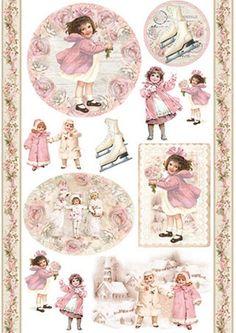 Paper napkins and rice papers for Decoupage 3d Christmas, Scrapbook, Winter Landscape, Rice Paper, Paper Napkins, Beautiful Images, Vintage Photos, Little Girls, Vintage World Maps