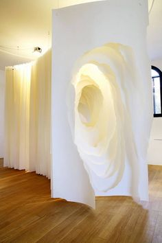 Suspended Paper Tunnel Sculptures
